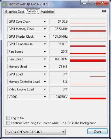GPUアイドル時温度