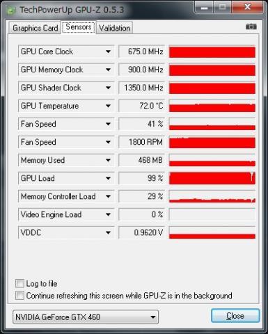 GPU高負荷時温度