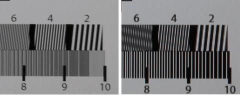 解像度の威力:左276PPI、右135PPI