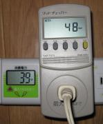 扇風機を接続、風量は2段階目(中)