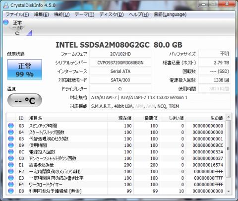 CrystalDiskInfo 4.5.0