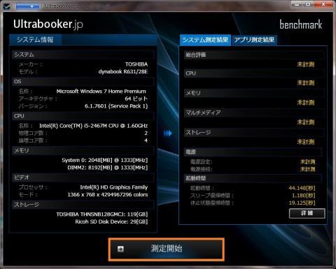 Ultrabooker Benchmark