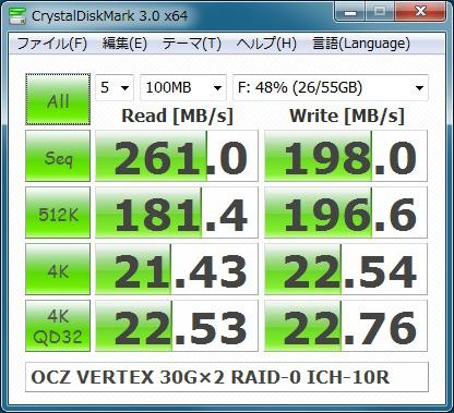 OCZ VERTEX 30GB RAID-0