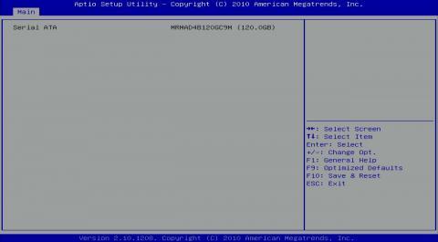 BIOS SATA機器 mSATA 6Gbps SSDを認識