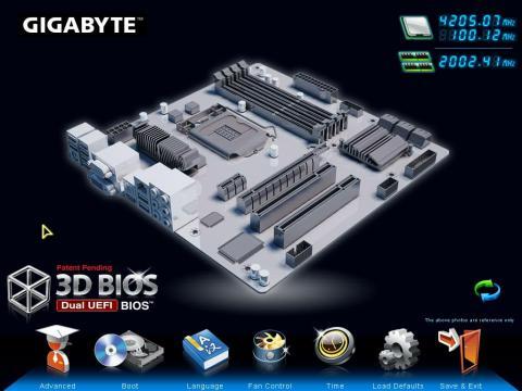 3D BIOS トップ画面