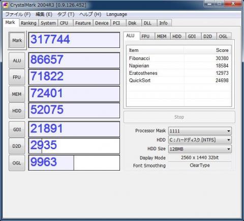 Core i5 3570K Crystal Mark 2004R3