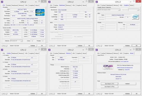 CPU-Z 一覧