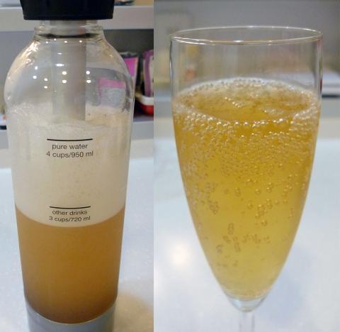 リンゴジュース炭酸化