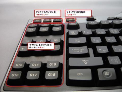 Gキー/MRキー/M1~M3キー