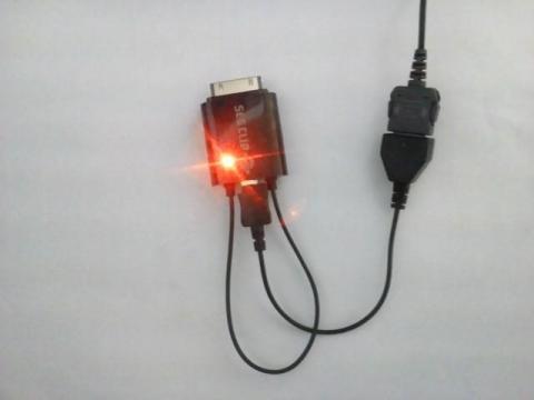 MEDIASに付属のFOMA端子をMicroUSBに変換するアダプタ