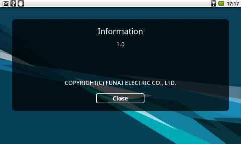 version番号が1.0として表示されるので、もし可能であれば今後のアップデートに期待したい。