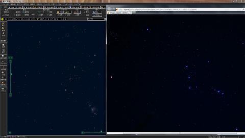 実際に撮影した写真と比較してみて何等星まで写っているのかを比較してみた