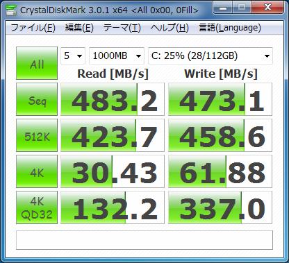 SSD 330 0x00書き込み時