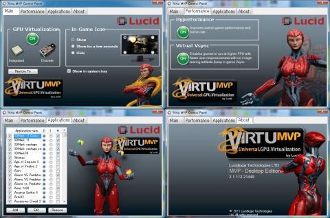 Virtu MVP Control Panal