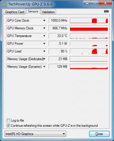 GPU-Z(モニター表示)