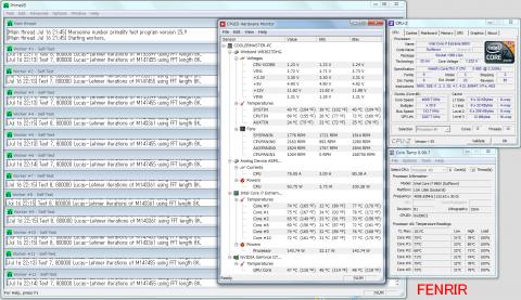 FENRIR i7-980X OC prime95 30分負荷温度