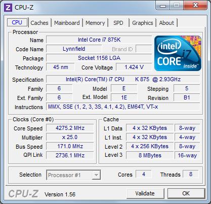 CPU-Z 4275MHz