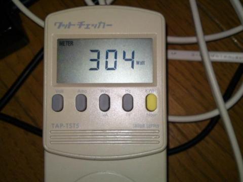 3DMark06実行時の消費電力