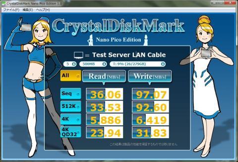 DH67BL LANケーブル 速度