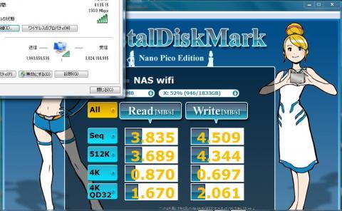 NAS 無線LAN 速度