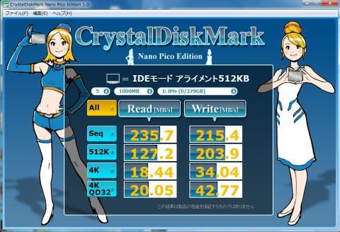 Intel SSD 320 IDE接続 アライメント=512