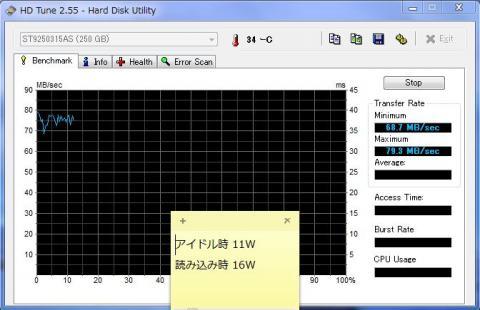 HDD消費電力