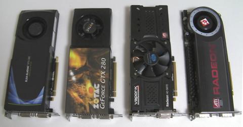 外寸はGTX280とほぼ同じ、HD5870よりわずかに短いです。