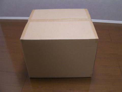 届いたのは巨大な茶箱ダンボール