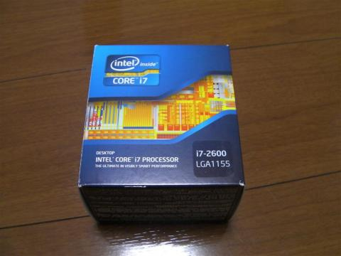 CPUはCore i7 2600です。Sandy Bridgeと呼ばれる最新のCPUです。