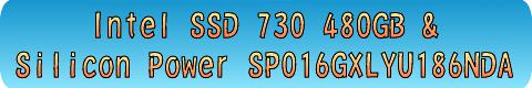 Intel SSD 730 480GB + Silicon Power SP016GXLYU186NDA