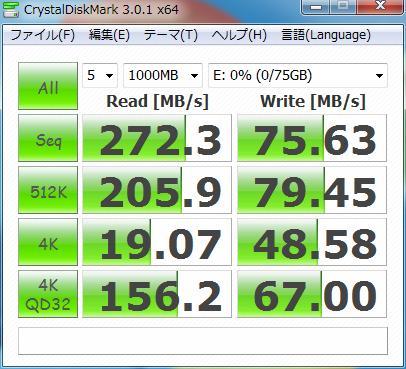 「SSDSA2MH080G1GC」 ベンチマーク (参考)