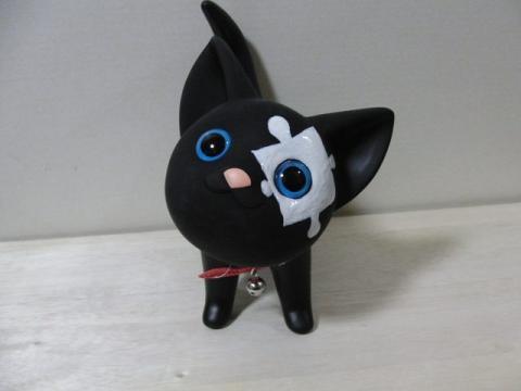 写真1:猫のオブジェ?