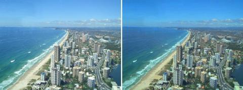 画像1:輝度の調整(右:原本、左:輝度-30)