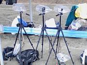 写真2:カメラセッティング1試合目