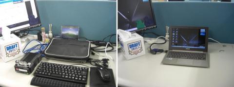 写真7: 使用前(左)と使用後(右)