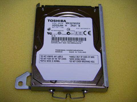 内蔵されていたのは「TOSHIOBA MK3276GSX」でした