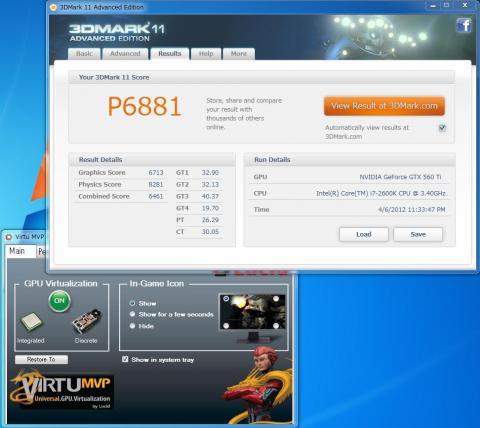 3DMark11 Virtu MVP