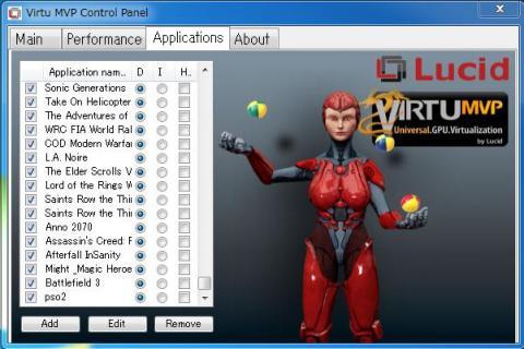 Virtu MVP Control Panel