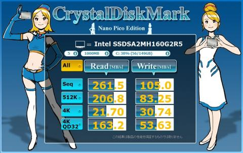 intel SSDSA2MH160G2R5