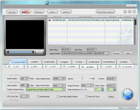WinX HD Video Converter DX