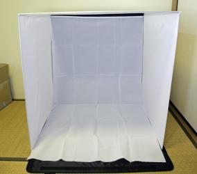 【撮影キット 撮影ブース】バックスクリーン4枚付属 折りたたみ式 撮影ボックス 80サイズ 上海問屋 DN-83048