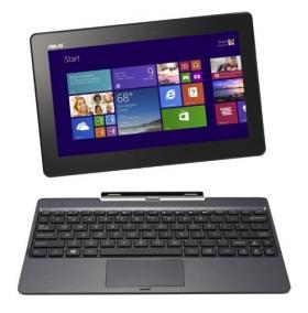 ASUS T100TAシリーズ NB / gray ( WIN8.1 32bit / 10.1inch touch / Z3740 / 2G / 64G + 500G ) T100TA-DK564G