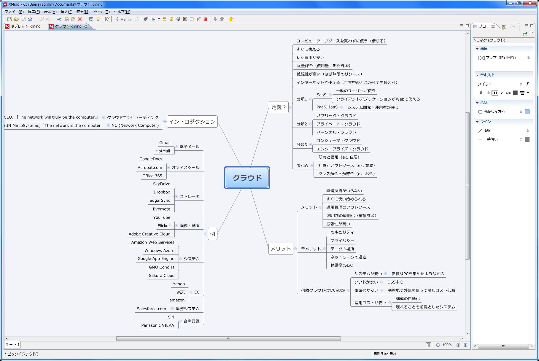 フリーのマインドマップ作成ソフト Xmind 13のレビュー ジグソー レビューメディア