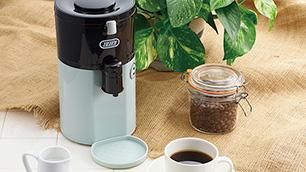 Toffy 全自動ミル付コーヒーメーカー「K-CM2」 ~豆挽きからドリップまで1台で~