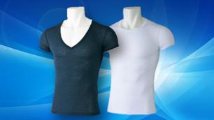 高機能吸汗速乾素材使用の形状安定半袖インナーシャツ|dri-comfort(ドライコンフォート)