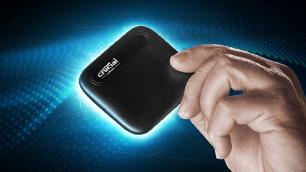小型で軽量! なのに大容量!!「Crucial X6 Portable SSD」を持ち歩こう